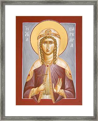 St Barbara Framed Print by Julia Bridget Hayes