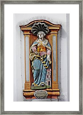 St Barbara Framed Print