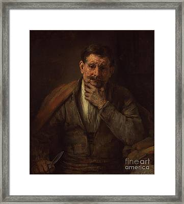 St. Bartholomew By Rembrandt Harmensz. Van Rijn Framed Print by Esoterica Art Agency