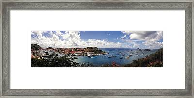 Framed Print featuring the photograph St. Barths Harbor At Gustavia, St. Barthelemy by Lars Lentz
