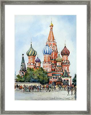 St. Basil Cathedral- Moscow -russia Framed Print