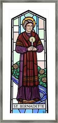 Saint Bernadette  Framed Print by Gilroy Stained Glass
