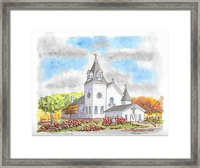 St. Boniface Catholic Church, Walhalla, North Dakota Framed Print
