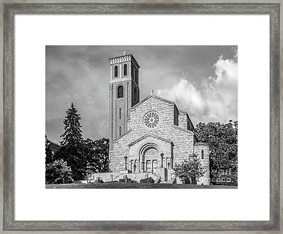 St. Catherine University Our Lady Of Victory Chapel Framed Print by University Icons