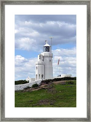St. Catherine's Lighthouse On The Isle Of Wight Framed Print by Carla Parris