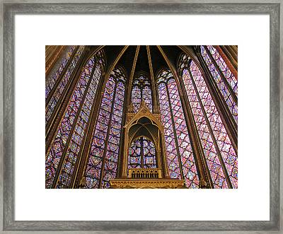 St Chapelle Paris Framed Print