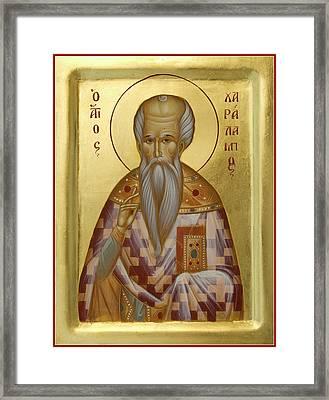 St Charalambos Framed Print by Julia Bridget Hayes