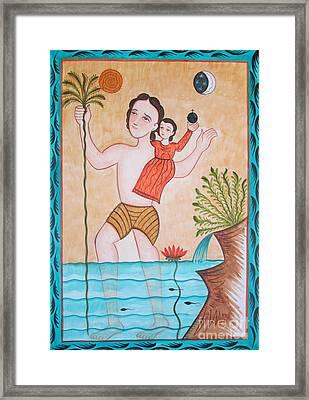 St. Christopher - Aochs Framed Print by Br Arturo Olivas OFS