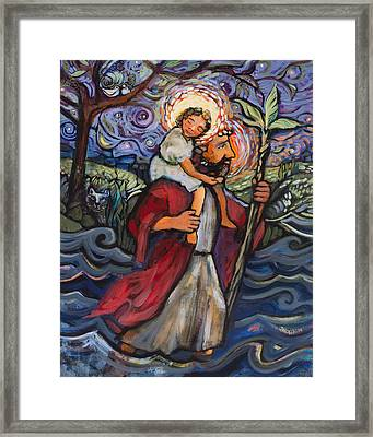 St. Christopher Framed Print by Jen Norton