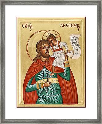 St Christopher Framed Print by Julia Bridget Hayes