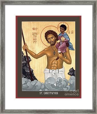 St. Christopher - Rlctr Framed Print by Br Robert Lentz OFM