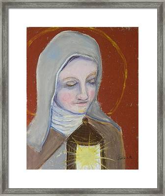 St. Clare Of Assisi II Framed Print by Susan  Clark