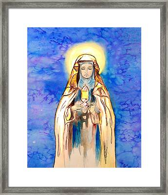 St. Clare Of Assisi Framed Print by Myrna Migala