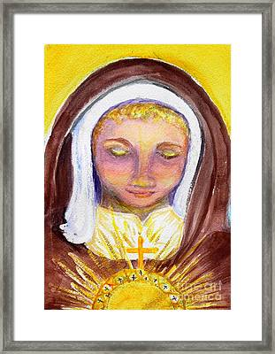 St. Clare Framed Print by Susan  Clark