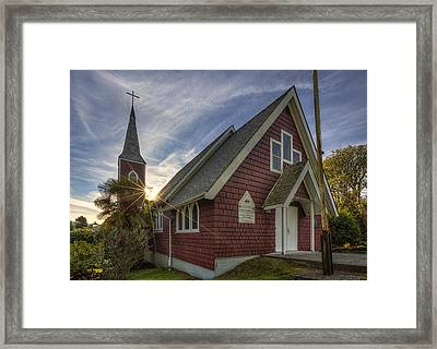St. Columba Church - Tofino Framed Print by Mark Kiver