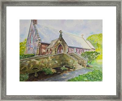 St. Columba's Episcopal Chapel Middletown Ri Framed Print by Patty Kay Hall