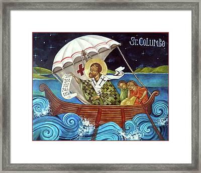 St Columbo Framed Print by Mary jane Miller
