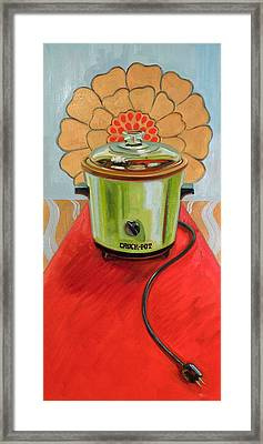St. Crock Pot Of The Red Carpet Framed Print by Jennie Traill Schaeffer