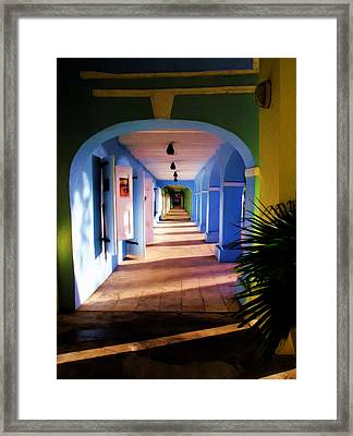 St. Croix Arches  Framed Print by Linda Morland
