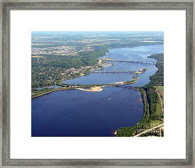 St Croix Lake And River Framed Print by Bill Lang