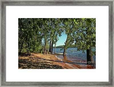 St Croix River Shoreline Framed Print