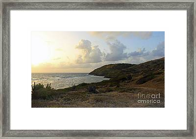 St. Croix Sunrise  Framed Print by Mary Haber