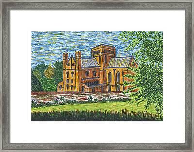 St Cross Church Winchester Framed Print by Pat Walden