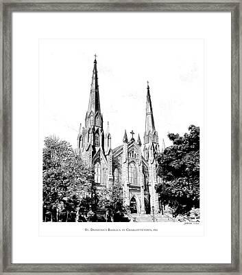 St Dunstans Basilica Framed Print by Greg Joens