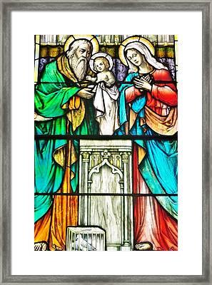 St. Edmond's Church Stained Glass Window - Rehoboth Beach Delaware Framed Print by Kim Bemis