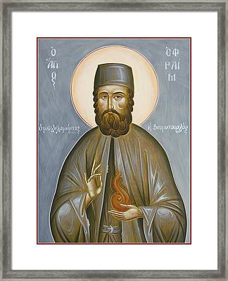 St Efraim Of Nea Makri Framed Print by Julia Bridget Hayes