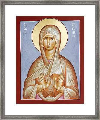 St Elizabeth Framed Print by Julia Bridget Hayes