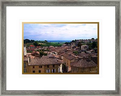 St. Emilion View Framed Print by Joan  Minchak