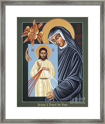 St Faustina Kowalska Apostle Of Divine Mercy 094 Framed Print
