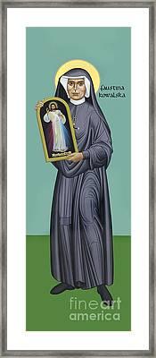 St. Faustina Kowalska - Rlfak Framed Print
