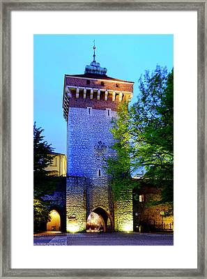 Framed Print featuring the photograph St. Florian's Gate by Fabrizio Troiani