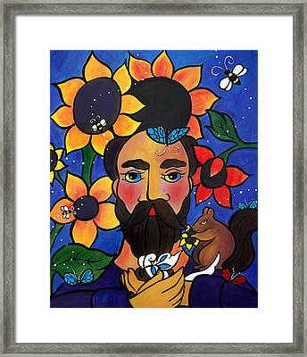 St. Francis - All Creatures Great And Small Framed Print