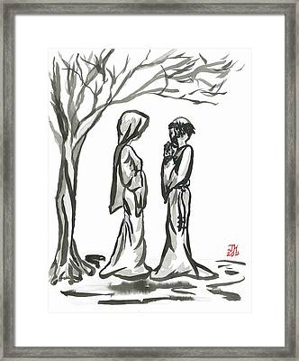 St. Francis And St. Clare Framed Print by Jason Honeycutt