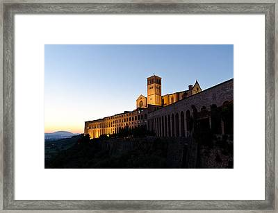 St Francis Assisi At Sundown Framed Print by Jon Berghoff