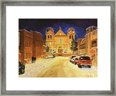 St. Francis Cathedral Basilica  Framed Print by Gary Kim