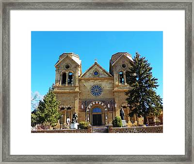 Framed Print featuring the photograph St. Francis Cathedral Santa Fe Nm by Joseph Frank Baraba