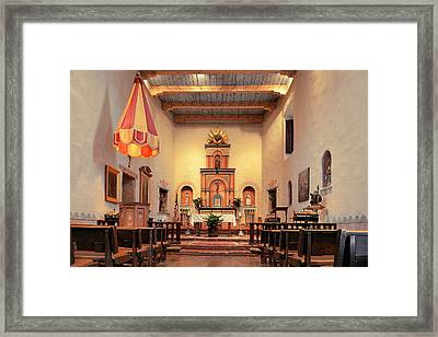 St Francis Chapel At Mission San Diego Framed Print