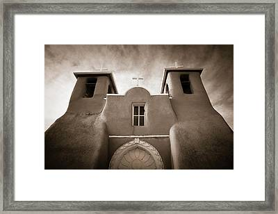 St Francis Church Front Framed Print by Marilyn Hunt