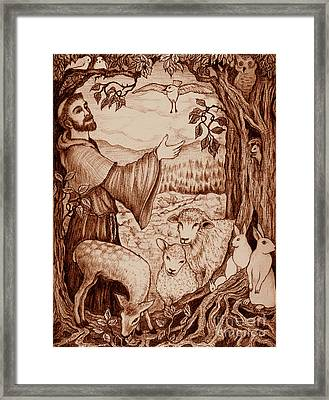 St. Francis Framed Print by Debra A Hitchcock