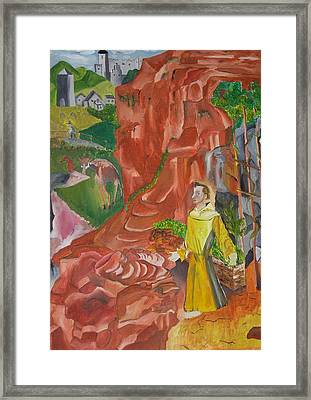 St. Francis In Ectasy Framed Print by Joseph  Arico