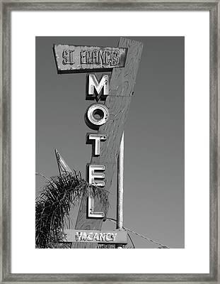 St Francis Motel Stockton Ca Framed Print