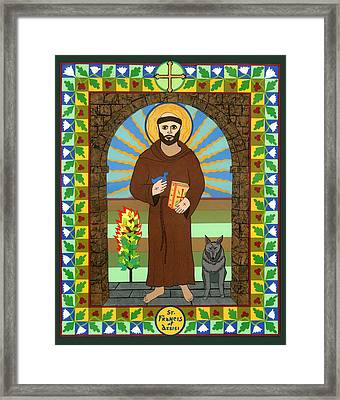St. Francis Of Assisi Icon Framed Print by David Raber