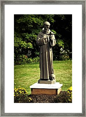 St Francis Of Assisi Framed Print by Mike Martin