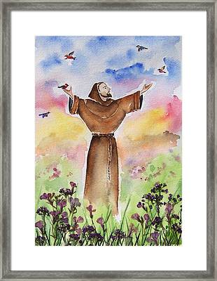 St Francis Of Assisi Framed Print by Regina Ammerman