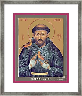St. Francis Of Assisi - Rlfob Framed Print