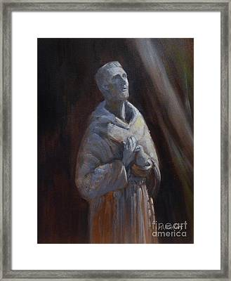 St. Francis Of Assisi Statue Framed Print